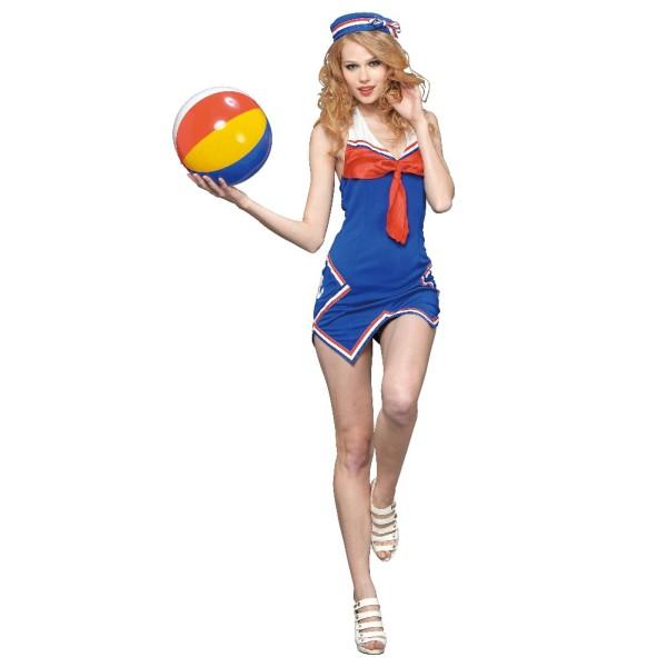 ハロウィン 仮装 ハロイン halloween costume ハローウィン 水兵 セーラー服 ワンピース トリコロールが鮮やかなセイラーコスチューム コスプレ コスチューム 衣装:創造生活館