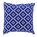 ししゅうカバー カバー 北欧風デザイン 刺繍クッションカバー カラー:ブルー サイズ:45×45cm