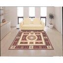 絨毯 高級感のある華やかな王朝柄 インテリア ラグ・マット 200×250cm レッド