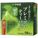 お茶・紅茶 (まとめ買い)伊藤園 プレミアムティーバッグ 緑茶50P 【×20セット】