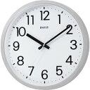 生活用品・インテリア・雑貨 (まとめ) デイリー クオーツ掛時計 フラットフェイスDN シルバーメタリック(文字盤:ホワイト) 4KGA06DN19 1台 【×2セット】