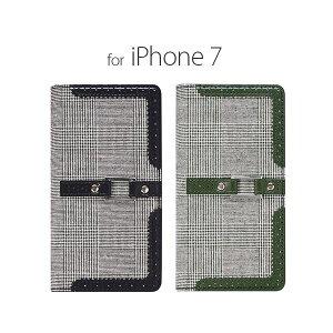 日用雑貨 stil iPhone7 GENTLEMAN OXFORD グリーン