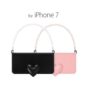 日用雑貨 abbi iPhone7 Heart Diary ピンク