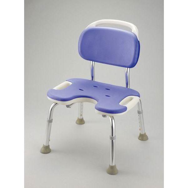 健康器具 シャワーベンチGR U型ワイド(3) 【背付き】 高さ5段階調整可 [入浴用品/介護用品] 【角型せんたくネット 付き】座ったまま陰部が洗え、介助動作がしやすい座面形状の風呂椅子
