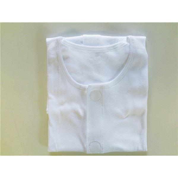 (まとめ)片倉工業 肌着 紳士ソフトワンタッチ (1)半袖 白 L 3325 114ALO【×2セット】