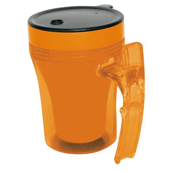 健康器具 (まとめ)幸和製作所 食事用具 テイコブマグカップ オレンジ 9993 C02【×5セット】 【角型せんたくネット 付き】幸和製作所 食事用具