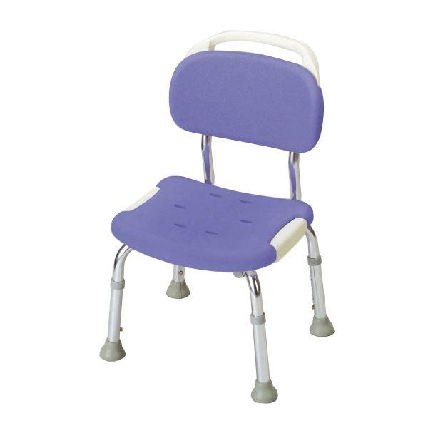健康器具 シャワーベンチGR コンパクト 【背付き】 高さ5段階調整可 [入浴用品/介護用品] 【角型せんたくネット 付き】座面・背もたれにソフト素材使用、コンパクトタイプの風呂椅子