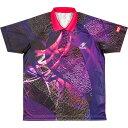 乒乓球 - 卓球アパレル CLOUDER SHIRT(クラウダーシャツ)ゲームシャツ(男女兼用・ジュニアサイズ対応) NW2177 パープル 3S
