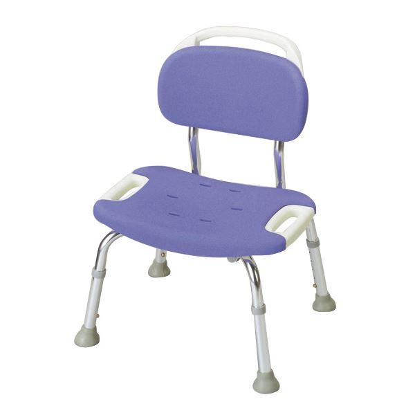 健康器具 シャワーベンチGR ワイド 【背付き】 高さ5段階調整可 [入浴用品/介護用品] 【角型せんたくネット 付き】座面・背もたれにソフト素材、座面が広いゆったりタイプ風呂椅子シンプル