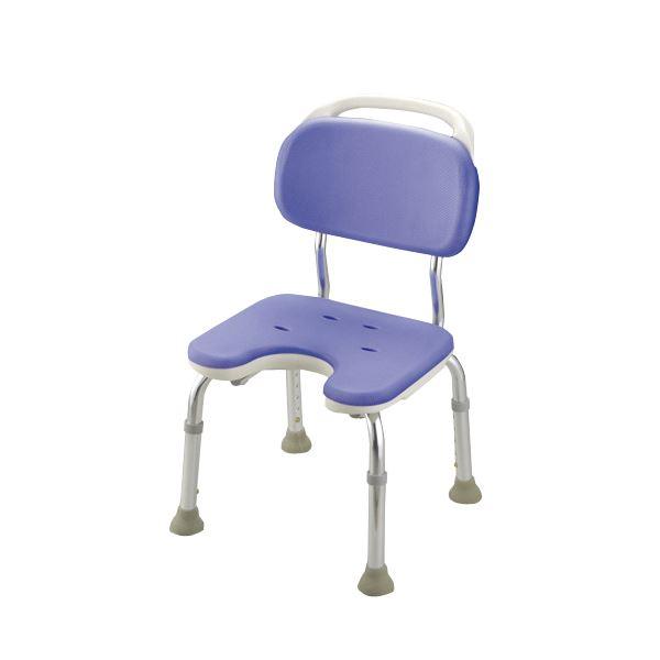 健康器具 シャワーベンチGR U型コンパクト(1)【背付き】 高さ5段階調整可 [入浴用品/介護用品] 【角型せんたくネット 付き】座ったまま陰部が洗え、介助動作がしやすい座面形状の風呂椅子