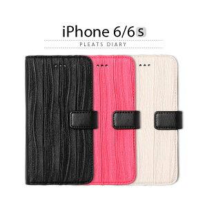 日用雑貨 Zenus iPhone6/6S Pleats Diary ホワイト