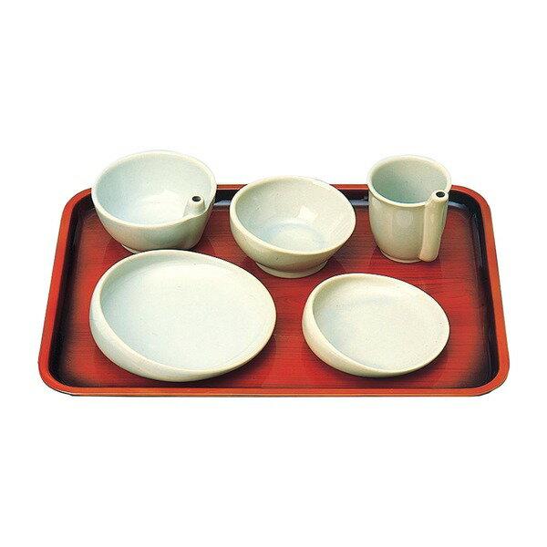 健康器具 有月陶器 食事用具 らくらく食器 5点セット 96020 【角型せんたくネット 付き】有月陶器 食事用具