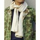 ミリタリー 関連商品 フランス軍放出 50' Sスカーフ オフ ホワイト デットストック