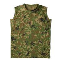 ミリタリー 関連商品 J.S.D.F.(自衛隊)吸汗速乾両面メッシュスリーブレスシャツ2枚SET 迷彩 S