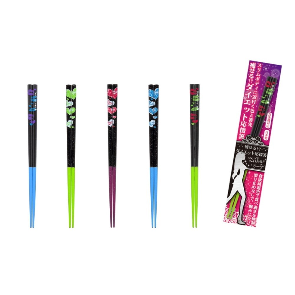 diet Chopsticks 天然木 カラフル箸 5色セット