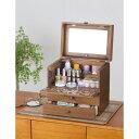 化妝盒 - メイクボックス メークボックス コスメアイテムをすっきり 収納 切り絵風コスメボックス