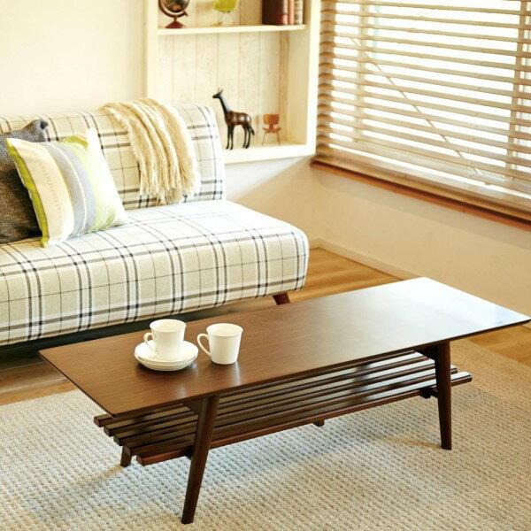 インテリア リビング 家具 棚 もついているので 簡単な 収納 にも ナチュラル な インテリアテーブル 折れ脚テーブル 幅120 ブラウン