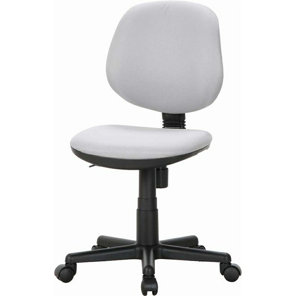 OAチェア Office chair ガス昇降式 オフィスチェアー カラー:グレー 【カラビナ付リールキー 付き】オフィスチェア パソコンチェア OAチェア ワークチェア デスクチェア パソコンチェアー PCチェアー Office chair ガス昇降式 椅子