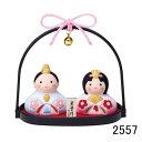 ひな祭り コンパクト オブジェ 雛人形 錦彩 はな萌雛 (小手籠・クリスタルガラス付)