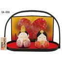 桃の節句 おひなさま 陶器 雛人形 京洛 おぼこ雛飾り (水三彩)