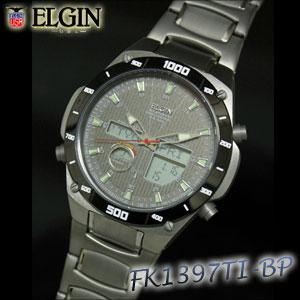 エルジン ワ-ルドタイム チタンソ-ラ-電波ウォッチ FK1397TI-BP 腕にしっくりとなじむデザイン高級感あふれる腕時計。