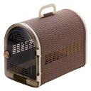 樂天商城 - ペットキャリーケース 持ち運びに最適。 人気 籐あみ調キャリー44 ブラウン(BR)