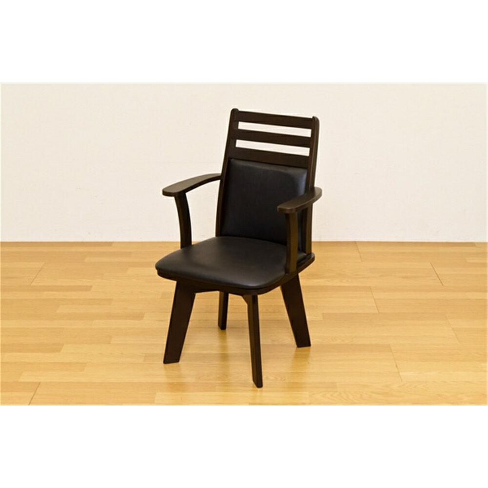 椅子 イス 回転チェア 回転式 ダイニングチェア 1脚 カラー:ダークブラウン 【抗菌ふきん 2枚入 付き】Chair 回転チェアー 椅子 いす  回転ダイニングチェアー イス 回転椅子 回転いす 合成皮革 回転チェア 組立式 360度回転
