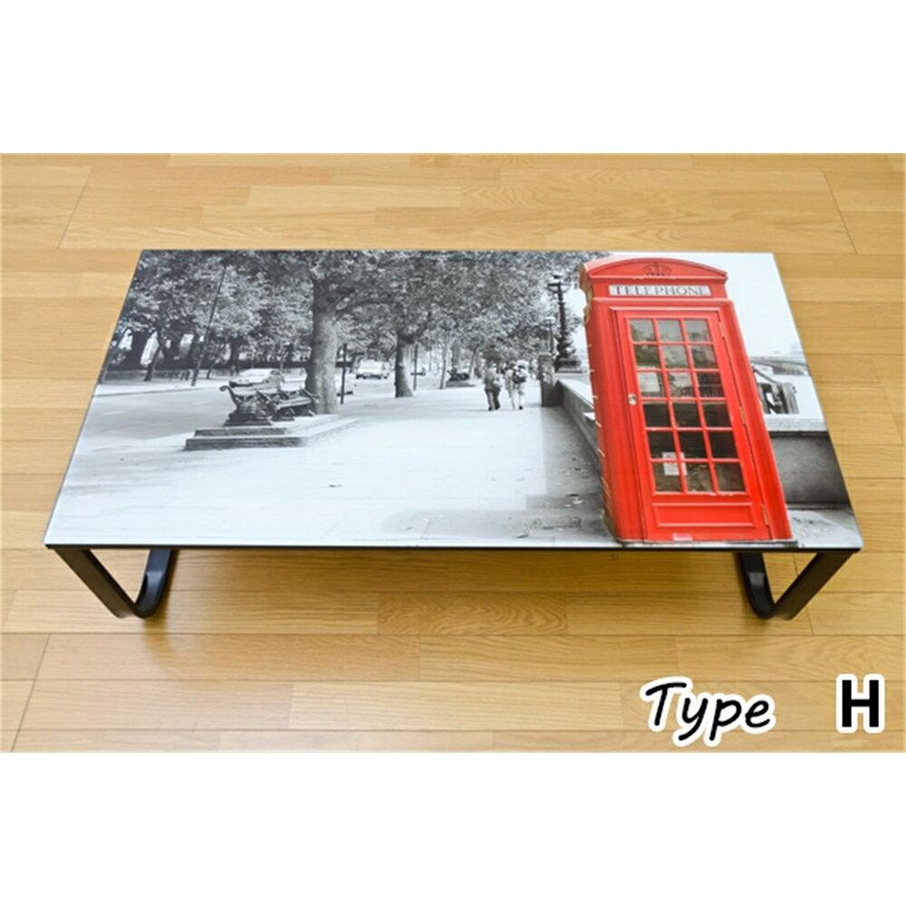センターテーブル サイドテーブル 強化ガラス ガラス センターテーブル 105x55cm Type:H 【カラビナ付リールキー 付き】センターテーブル ガラステーブル リビングテーブル リビング テーブル ローテーブル コーヒーテーブル サイドテーブル PHOTO ART