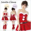 【コスチューム】クリスマスサンタクロース・チューブトップ 赤・Mサイズ 1点