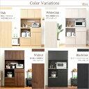 便利雑貨 完成品食器棚(キッチン収納・100cm幅) ブラックオーク