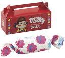 【楽ギフ 包装】子どもの頃からずっと大好き!ミルキーがそのままタオルになりましたミルキー やわらかマイクロウォッシュタオルPK1051