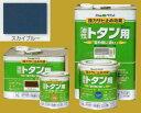 アトムハウスペイント 油性塗料 ルーフコート(油性トタン用)  色:スカイブルー 14L(一斗缶サイズ)