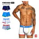 PINKHERO マルチカラー パイピング ローライズ ボクサーパンツ メンズ スーパーローライズ 男性下着 パンツ インナー お洒落 男性用 ∞