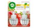 AIR WICK Scented Oil Apple Cinnamon 2Refillsエアーウィック・芳香オイル・詰め換え用・詰め替えボトル・2個入り・アップルシナモン・アメリカ・芳香剤