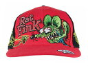 Rat Fink Pinstripe Embroidered Cap ラットフィンク ピンストライプ刺繍キャップ キャップ ハット 帽子 アメ車 アメリカ アメリカン