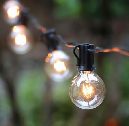 Outdoor Lighting Patio String Lights Black 100球 G40 アウトドアーライティング パティオストリングライト ブラック ガーデニング・イルミネーション・ライト・電飾・ガーランドライト・業務用・ガーデン・パーティ・ランプ・アメリカ・ガーデンライト・モチーフ
