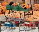 楽天STAB BLUE ENTERPRISEAmish Style Country Wagon Wood Green Blue Red Garden Planterカントリーワゴン・プランター・グリーン・プランター・ガーデニング・ウッド・木製・アメリカ・花台・インテリア・フラワーボックス・フラワーBOX・ジャンク・JUNK・フラワーワゴン