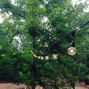 Outdoor COMMERCIAL GRADE STRINGER Lights 防水タイプ Black & White 25球 G50 7m