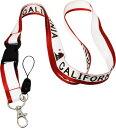 CALIFORNIA Lanyardカリフォルニア州旗、カリフォルニアベアーストラップ・アメリカ・アメリカン・西海岸