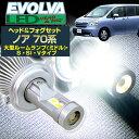 (LEDヘッド&フォグセット) ノア(ZRR7#系)大型ルームランプ(ミドル)/S/SI/Vタイプ(H19.6〜H25.12)H11(H8)&H11(H8) (ハロゲン仕様車) デルタダイレクト エボルヴァ LED トップファン ヘッドライト