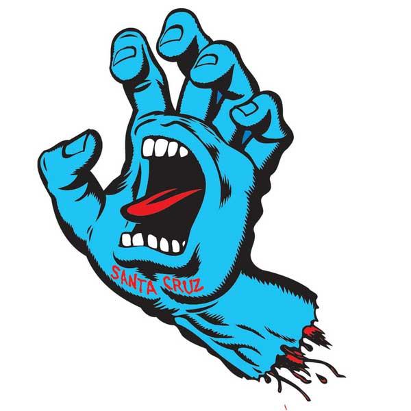 【Santa Cruz】サンタクルーズ【Screaming Hand Decal 3inch】約5.5 x 8.5cm【スケート】ステッカー【スクリーミングハンド】ネコポス対応可