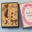 ファッションスタンプ-黒猫-【スタンプ オリジナルスタンプ かわいいスタンプ ネコ ねこ 猫 リボン ハート LOVE】