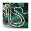 珠寶, 手錶 - ダイヤモンド ネックレス K18YG 3ctダイヤモンドテニスネックレス 18金イエローゴールド (鑑別書付き)