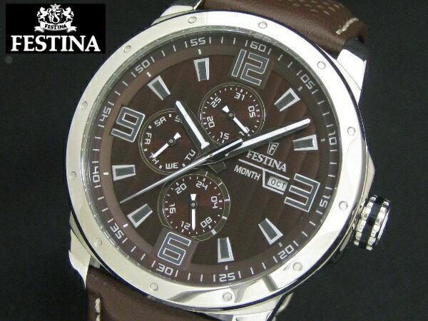 FESTINA フェスティナ マルチカレンダー メンズ ウォッチ 腕時計  F16585/A【送料無料/手数料無料】【smtb-KD】 自転車、ホッケーなど各スポーツのスポンサードを手掛ける欧州の時計ブランド