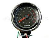 新品◆ 汎用 LED タコメーター 電気式 モンキー ゴリラ ズーマー カスタム アナログ ブラックパネル バイク部品