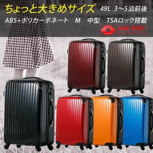 キャリーバッグ スーツケース キャリー ポリカーボ ファスナー