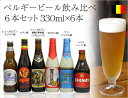 送料無料 ベルギービール 飲み比べ6本ギフトセット330ml×6本[輸入ビール][ビール飲み比べ]ビールセット お年賀 御挨拶 成人式ギフト