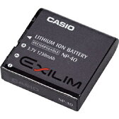 CASIO カシオ NP-40 純正 リチウムイオン充電池 バッテリーパック 【 BC-30L バッテリーチャージャー 充電器 対応 】【 NP40 】【 保証有り 】 EXILIM デジタルカメラ用 デジカメ 【 あす楽対応 】