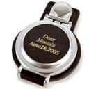 ホールインワン,ノベルティー販促品,記念品に革に名入れを!【名入れ時計】オリジナルウォッチ革に名入れタイプ「スタンド丸」
