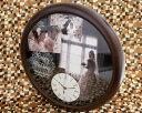オリジナル時計「ウェディング」BIG木製壁掛け時計 写真タイプ/ 結婚祝い・出産祝い 【送料無料】【RCP】 10P03Dec16